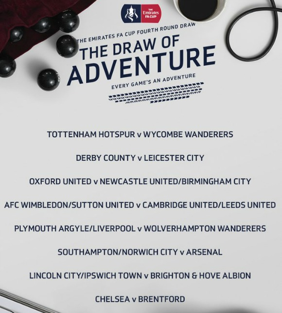 Foxes Cup Draw