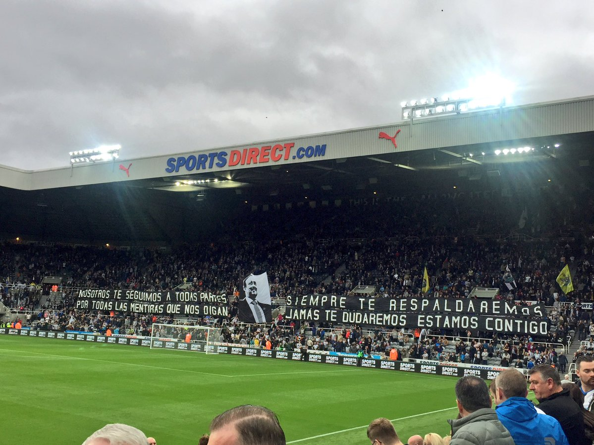 Benitez Banner Gallowgate Spanish