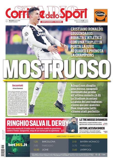 Corriere dello Sport Ronaldo Champions League