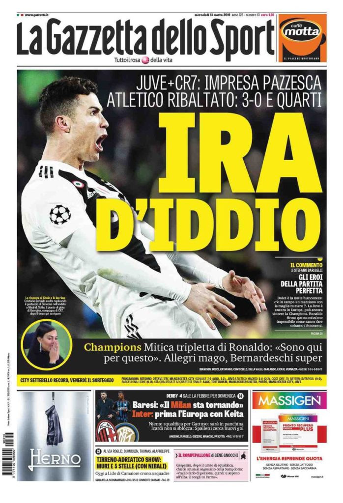 Gazzetta Ronaldo Reaction Atleti