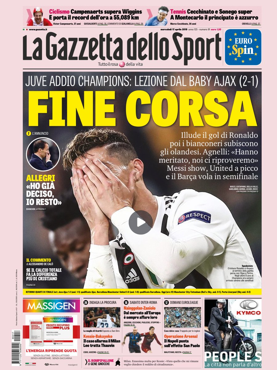 Gazzetta Ajax Loss